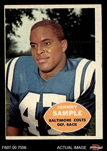 1960 Topps # 9 John Sample Baltimore Colts (Football Card) Dean's Cards 4 - VG/EX Colts