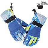 OriAnNa Winter Gloves Touchscreen Gloves Windproof and Waterproof Anti-Slip Gloves for Cycling Riding Hiking Driving Skiing Running Climbing Snowboarding in Winter Suit Women Men Boys Girls