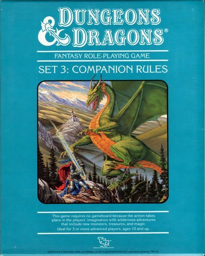 Dungeons And Dragons Set No 3 Companion Rules Boxed Set Tsr
