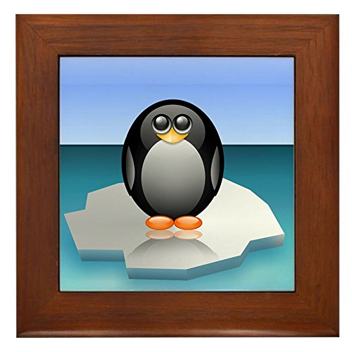 Whale Framed Tile - Framed Tile Cute Baby Penguin