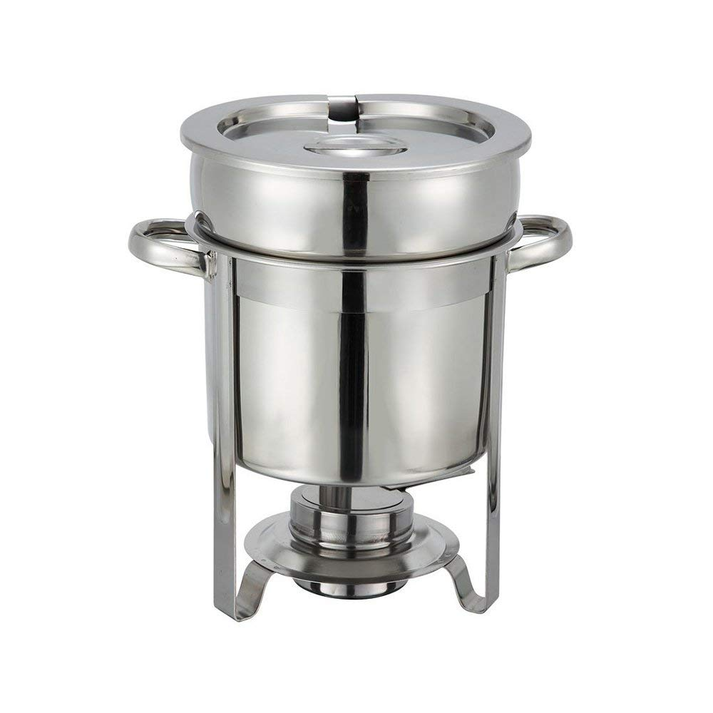 Winco 207 Stainless Steel Soup Warmer, 7-Quart, Medium, by Winco