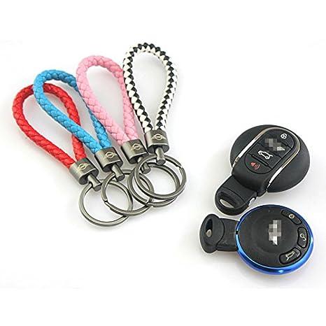 LVBAO Key Chain Keyring Keychain Key PU for Mini Cooper One S JCW R61 R60 R55 R56 R57 R58 R59 F54 F55 F56 F57 F60 Countryman Clubman Hardtop Hatchback Coupe Roadster