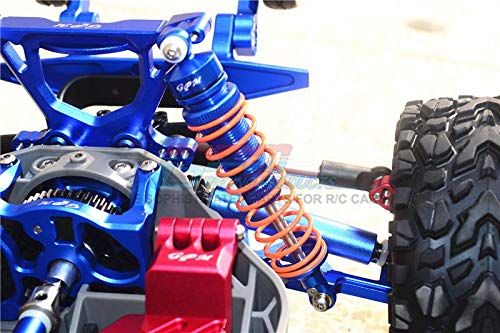 1Pr Set Blue Aluminum Rear Adjustable Shocks 102mm G.P.M Traxxas Rustler 4X4 VXL 67076-4