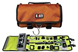 Go Pro Roll up Electronic Accessories Travel Gear Organizer Case bag for GoPro Hero 4 3+ 3 sj4000 and Other Action Compact Cameras - Mounts - Pole - Batteries - Remotes Accessories