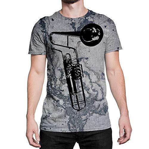 Cimbasso Instruments - Idakoos Instruments Cimbasso 3D - Men T-Shirt Polyester L
