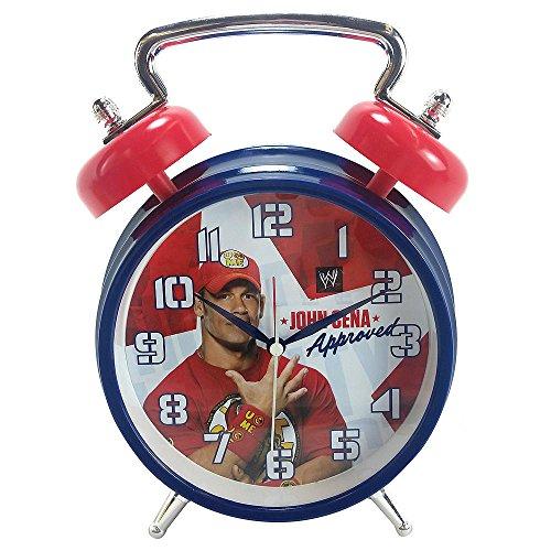 John Cena WWE Quartz Analog Twin Bell Alarm Clock (Wwe Inc)