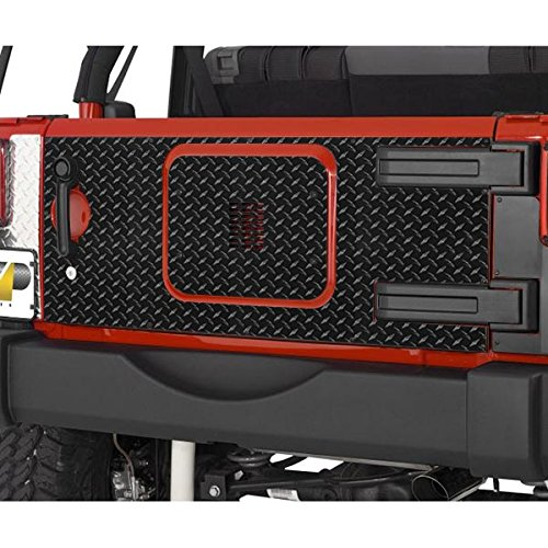 Warrior Tailgate Cover (Warrior Products 920DPC Powder Coated Finish Tailgate Cover for Jeep JK)