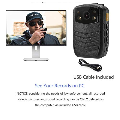 Meknic Q3 2K High Definition Portable Security Guards 64G Body Camera, Police Body Worn Mounted Camera Good Night Vision with 2'' Display for Law Enforcement, Police Officers,Security Companies (64GB) by MEKNIC (Image #5)