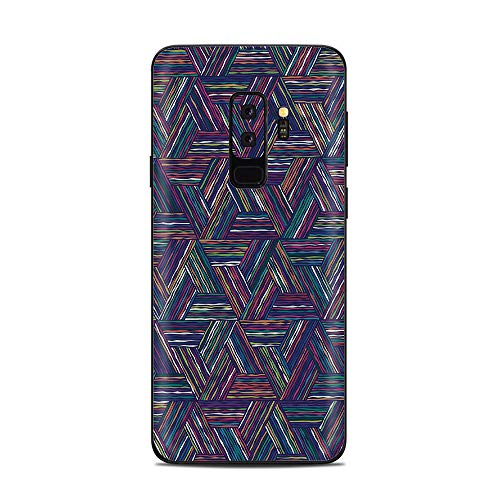 It's A Skin Decal Vinyl Wrap for Samsung Galaxy (S9 Plus S9+ only) Phone Stickers Skins Cover/Triangle Weave ()