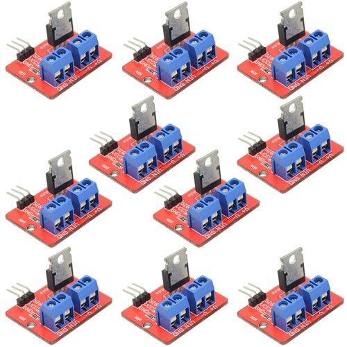 WGCD 10 PCS IRF520 MOSFET Driver Module for Arduino Raspberry Pi by WGCD
