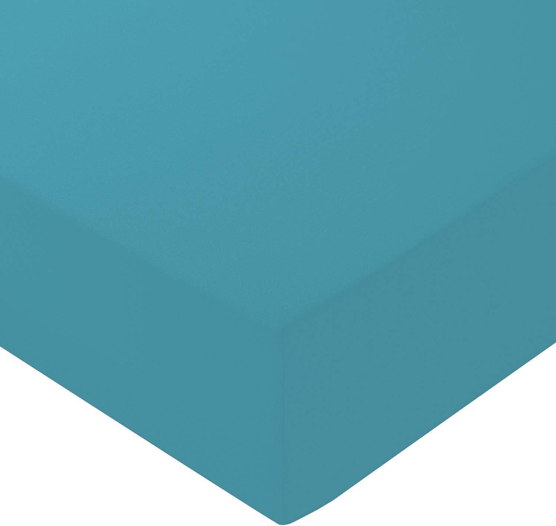 disponibles en 15 colores 100/% de algod/ón egipcio Doubl/é S/ábanas bajeras ajustables extraprofundas Morado 40 cm