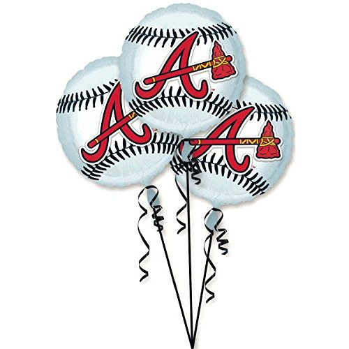 Amscan Exciting Atlanta Braves Balloons Party Decoration (3