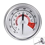 Qiorange Barbecue Pit Smoker Grill Thermometer Temperature Gauge