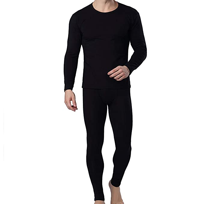 Mens Ultra Soft Thermal Underwear Long Johns Set with Fluff ...