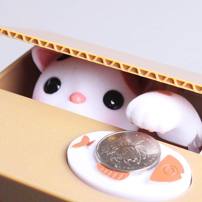 TopHGC Bo/îte d/Économie Vol De Tirelire Chat Panda Voler La Tirelire Bo/îte d/Économie dArgent Chat Automatis/é Voler La Tirelire
