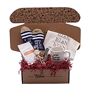Taboo Creations Coffee Lovers Gift Basket Box - Fun & Unique Gift Box for Coffee Lovers