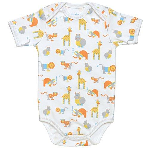 Under the Nile Baby Boy Lap Shoulder Bodysuit Size 9-12M Safari Animal Print Organic Cotton