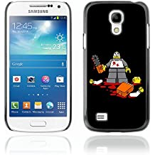 CelebrityCase Polycarbonate Hard Back Case Cover for Samsung Galaxy S4 MINI ( Funny Lego Chainsaw Killer )