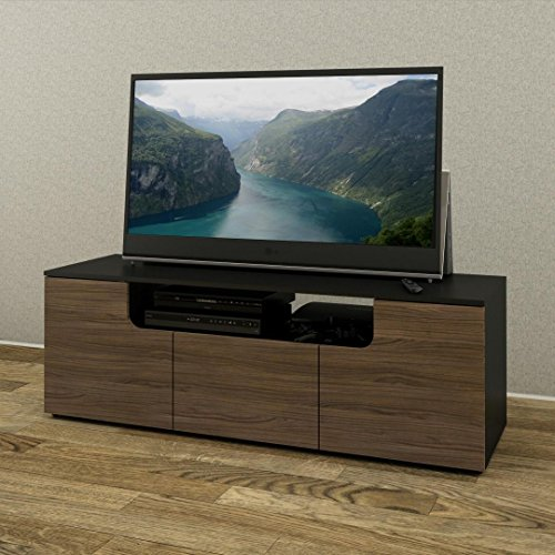 Next 60-inch TV Stand 600136 from Nexera, Black and Walnut