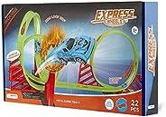 Pista Express Wheels Super Track Com Loop 360º 1 Carrinho E 22 Peças Indicado Para +5 Anos Multikids - Br1016