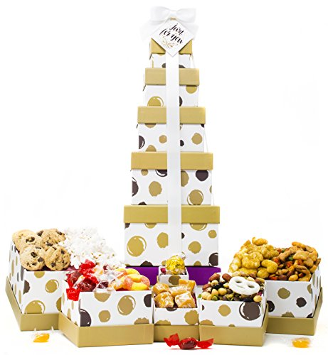 Gift Basket for Him - Box Tower - 6 Tier by ALBOL Gift Baskets