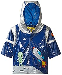 Kidorable Little Boys\' Space Hero Raincoat, Blue, 1T