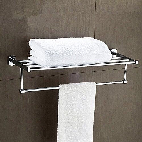 HOMEE Stainless Steel Bath Towel Rack Bathroom Rack 2 Bath Bathroom Stainless Steel Towel Rack by HOMEE