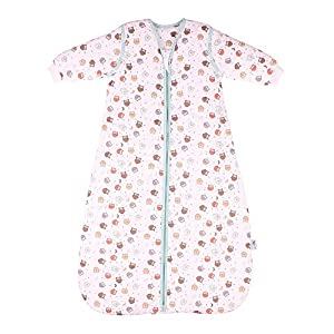 Simply Baby Sleeping Bag Owls with Removable Long Sleeves Tog 2.5-0-6 Months/27 inch