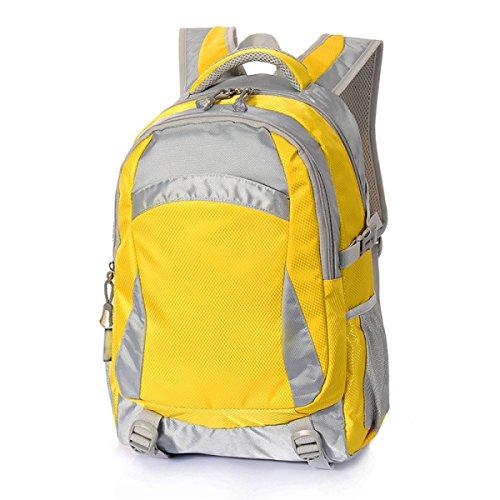 FZHLY Mochila De Viaje De Ocio Multifuncional Bolsa De Estudiantes Universitarios,Black1 Yellow2