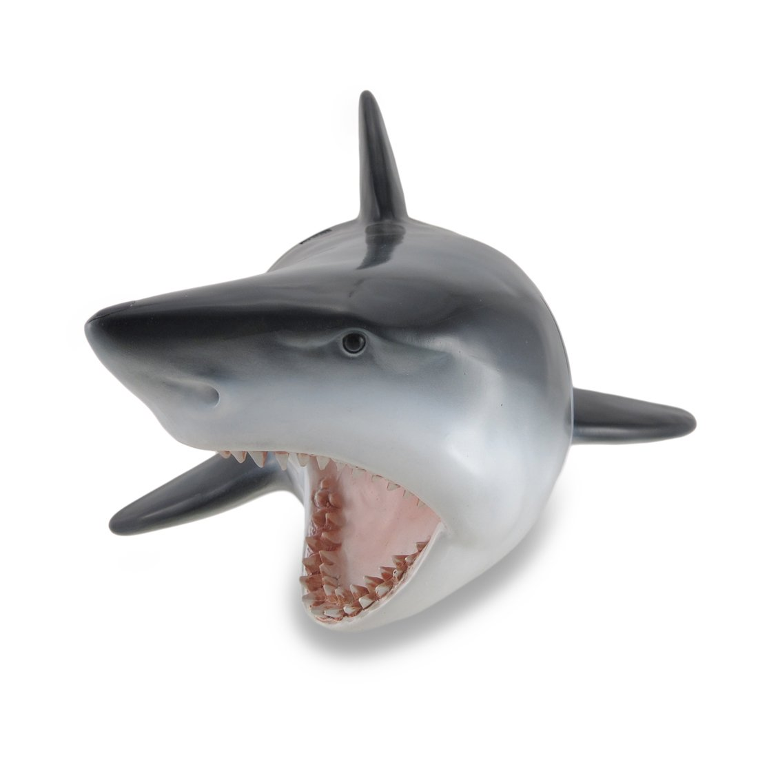 Zeckos Great White Shark Head Wall Mount Trophy Sculpture