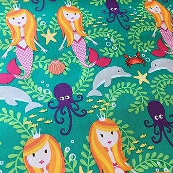 Meerjungfrau – Meerjungfrauen – 0,5 Meterware – Stoff von Michael ...