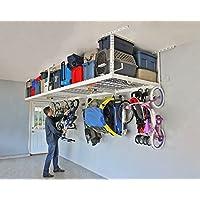 "SafeRacks 4x8-2 Rack Package w/Accessory Hooks 24-45"" Drop   White"