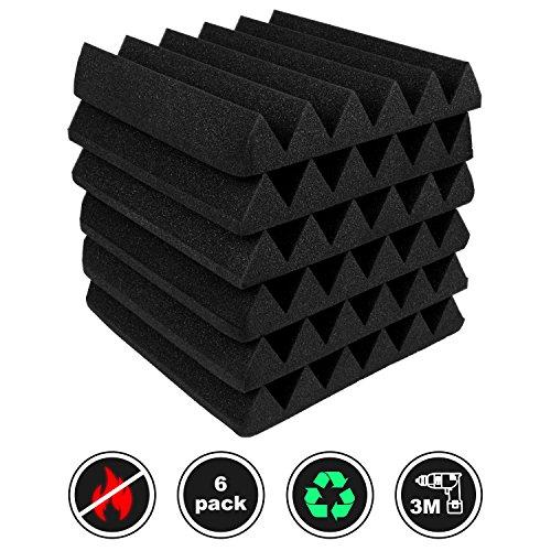 6 Pack,Acoustic Panels Studio Foam Wedges 2