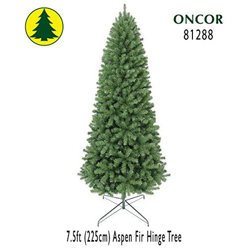 Green Aspen Trees - Oncor 7.5ft Eco-Friendly Aspen Fir Christmas Tree