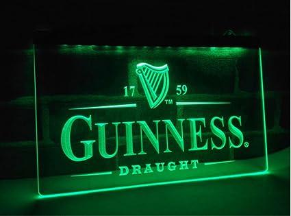 Guinness Vintages Beer Bar LED Neon Sign Man Cave, 100% Clear