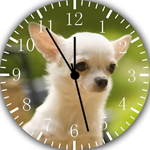 (Borderless Cute Chihuahua Frameless Wall Clock E410 Nice for Decor Or)