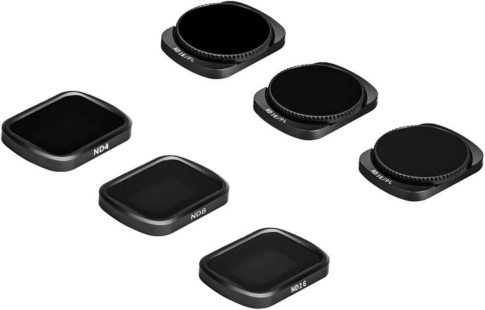 Theia Pro Series 6 Pack ND4 ND8 ND16 ND4//PL,ND8//PL,ND16//PL Camera Lens Filters Compatible with DJI Osmo Pocket