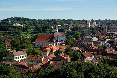 Home Comforts Peel-n-Stick Poster of Cathedral Vilnius Churches Old Lithuania City Poster 24x16 Adhesive Sticker Poster Print