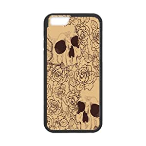 "Sugar Skull Day of the Dead Protective Rubber Phone Cover Case For Apple Iphone 6,5.5"" screen Cases TPUKO-Q813238"