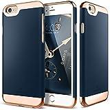 iPhone 6S Case, Caseology® [Savoy Series] Chrome / Microfiber Slider Case [Navy Blue] [Premium Rose Gold] for Apple iPhone 6S (2015) & iPhone 6 (2014) - Navy Blue
