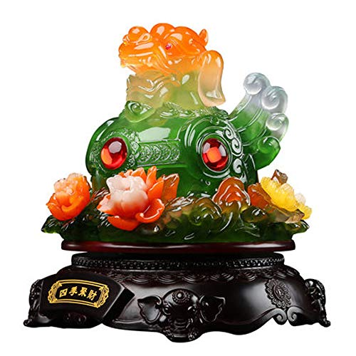 LINGS PiXiu/PiYao Four Season Flowers Statues,Chinese Feng Shui Decor for Home and Office Attract Wealth and Good Luck Best Housewarming Congratulatory Gift
