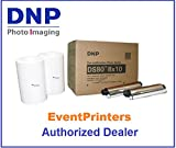 DNP DS80 8 x 10 inch Printer Media, paper and ribbon kit (total 260 prints). Comes with FREE SAMPLES of our best selling photo folders (Eventprinters brand). AUTHORIZED DEALER.