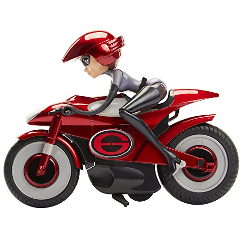 The Incredibles 2 Feature Elastigirl on Elasticycle Playset Collectible Action Figure, 11