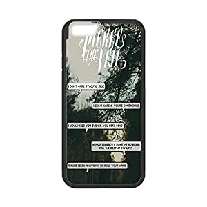 """Custom TPU case with Image show from Band pierce the veil nose Quotes Snap-on cover for iphone to 6 Plus or 5.5"""" Black 022709"""