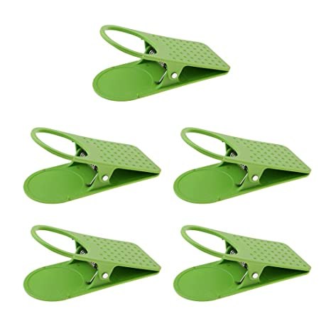 IPOTCH 5pcs Drinking Cup Holder Clip Camping Picnic Table Desk Side Clip for Water Mug Beer Cans Support Stand