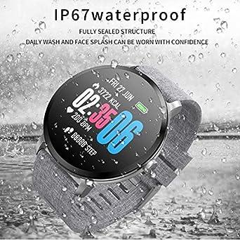 Amazon.com: DP-iot V11 Smart Watch IP67 Waterproof Tempered ...