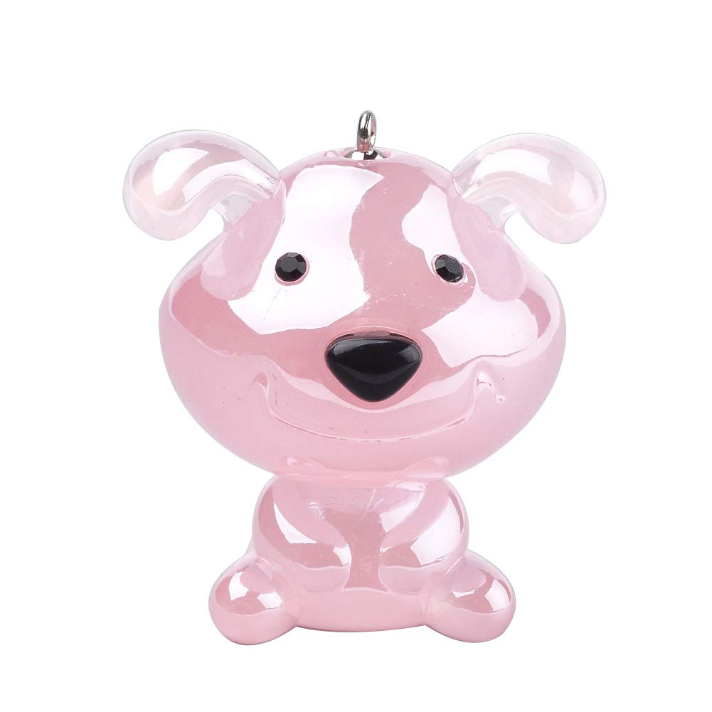 MegaPet 50pcs Pink Dog Shape Imitation Jelly Style Pearlized Acrylic Pendants Charms Pet Collar Charms Pet Supplies DIY Accessories for Bracelets Necklace Earring Jewelry Gifts