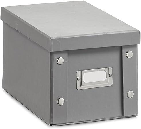 Zeller 17595 Caja de almacenaje de cartón Gris (Grau) 16.5 x 28 x ...