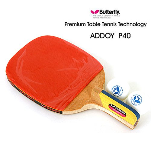New Butterfly ADDOY P40 Table Tennis Racket Penholder Paddle Ping Pong Racket & Ball / Premium Table Tennis Technology Butterfly by Butterfly