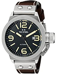 TW Steel Mens CS35 Analog Display Automatic Brown Watch